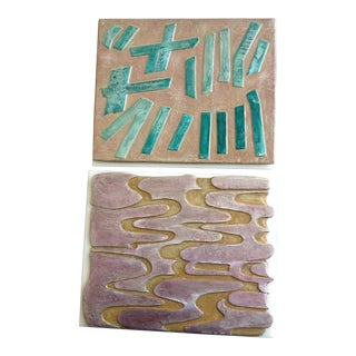Mid-Century Modern Wall Sculptures - A Pair