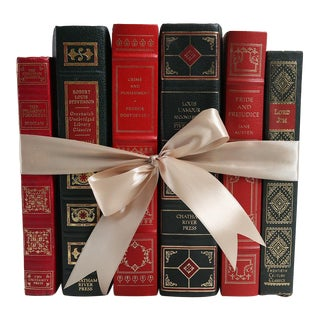 Vintage Book Gift Set: Classics in Red & Green, S/6