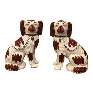 Staffordshire Dogs English Ware Figurines - a Pair For Sale