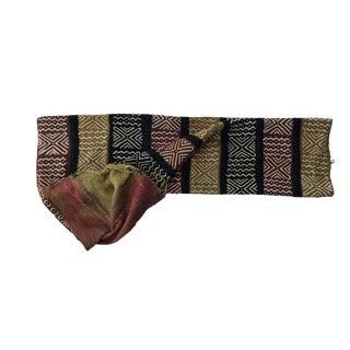 "Superb Bogolan Mali Mud Cloth Textile 42"" by 62"" For Sale"