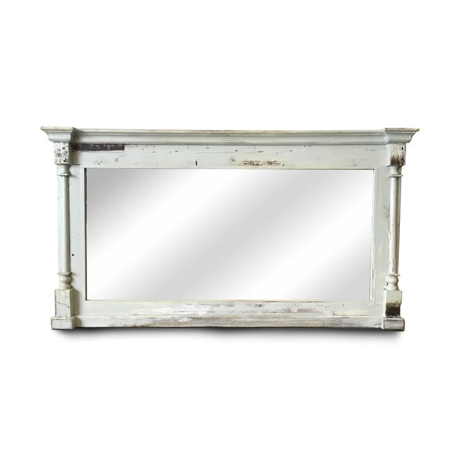 Early 20th Century Scandinavian Painted Reclaimed Wood Mirror For Sale - Image 5 of 5