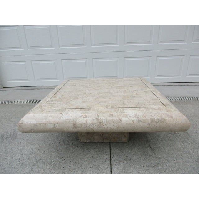 Maitland - Smith Tessellated Stone Coffee Table for Mission Furniture Los Angeles For Sale - Image 4 of 11