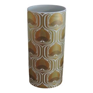 1970s Bjorn Wiinblad Porcelain Gold and White Vase for Rosenthal Studio Line For Sale