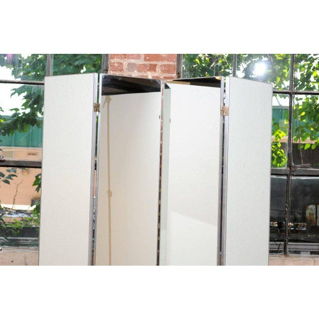 Machine Age Mirrored Four-Panel Screen For Sale - Image 4 of 10