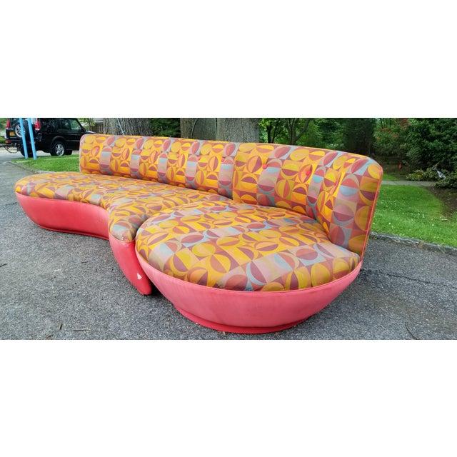 "Rare 80's Vladimir Kagan ""Comet"" Swivel Sectional Sofa For Sale In New York - Image 6 of 11"