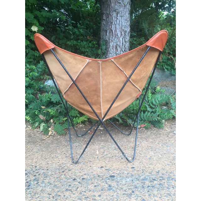 Mid-Century Leather Butterfly Chair - Image 4 of 7