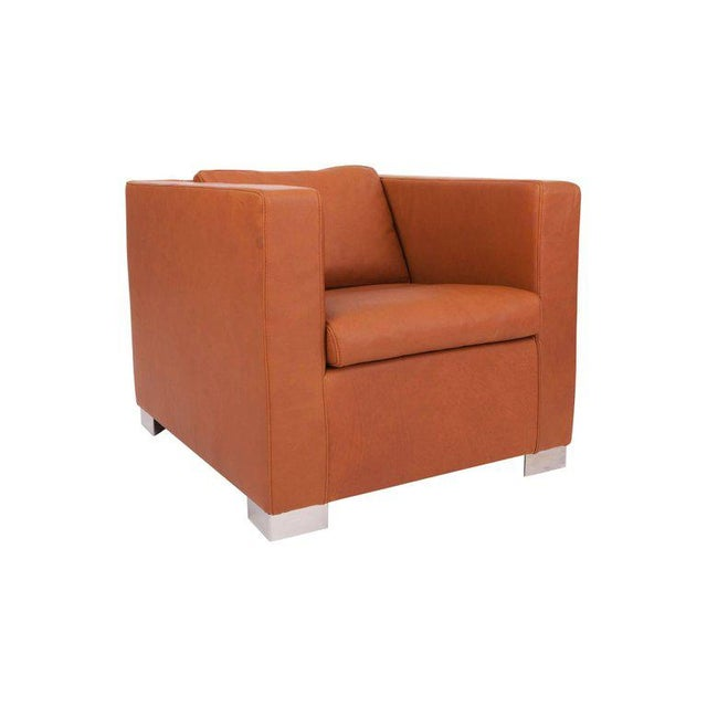 "Orange Minotti ""Suitcace"" Armchair, Rodolfo Dordoni, 1990s For Sale - Image 8 of 13"