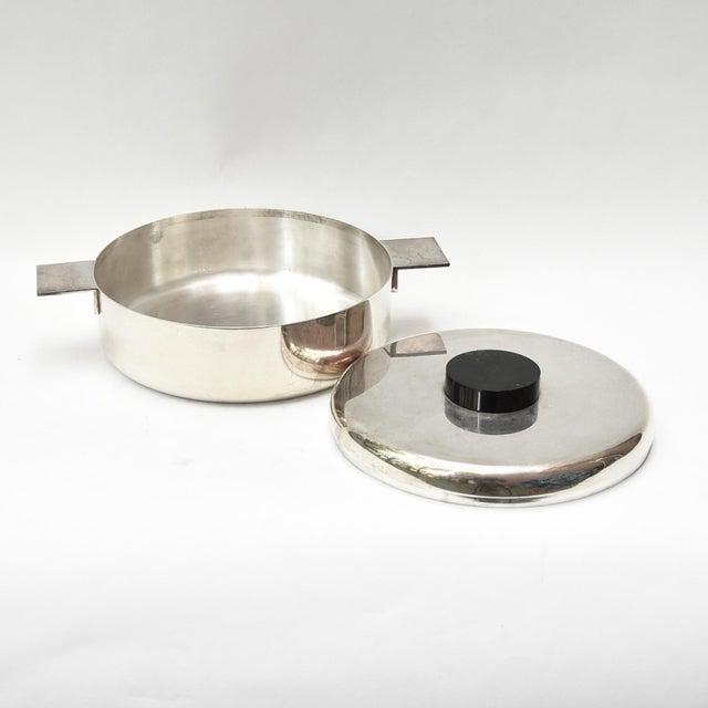 Lino Sabattini Lino Sabattini Silver Plated Bowl and Lid For Sale - Image 4 of 5