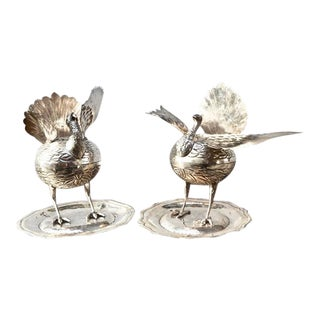 Pair of South American Perfume or Incense Burners in Silver For Sale