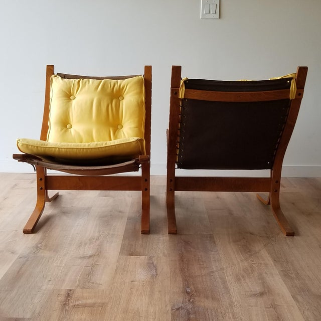 """Mid-Century Modern 1970s Ingmar Relling Newly Upholstered """"Seista"""" Chairs - a Pair For Sale - Image 3 of 13"""