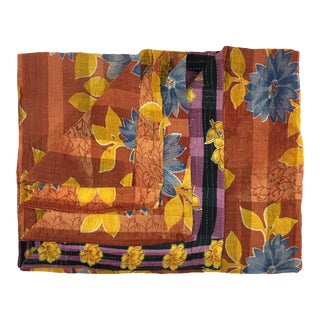 Ribbons of Roses Rug and Relic Kantha Quilt