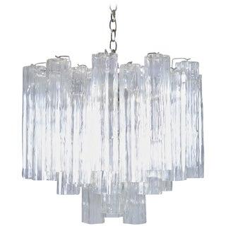 Murano Glass Tronchi Chandelier For Sale