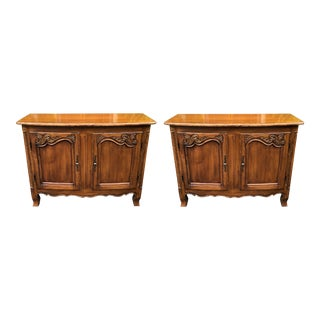 Pair of Louis XV Style French Provincial Buffets by William Switzer For Sale