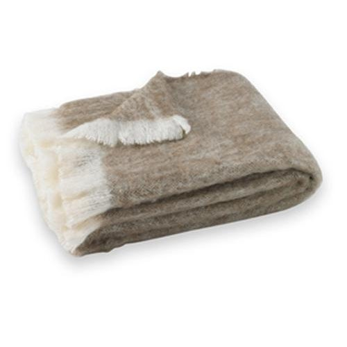 Transitional Driftwood Brushed Alpaca Throw For Sale - Image 3 of 3