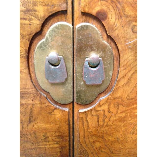 Thomasville Burled Asian Style Cabinet - Image 3 of 8