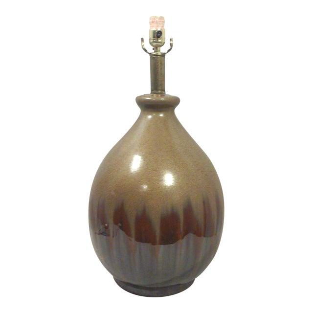Brown metallic drip glaze ceramic table lamp chairish brown metallic drip glaze ceramic table lamp aloadofball Choice Image