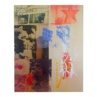 "Robert Rauschenberg Original Offset Lithograph Abstract Expressionist Print "" Favor Rites 2 "" 1988 For Sale"