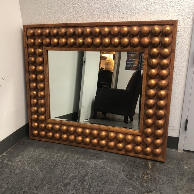 Vintage Bubble Framed Gold Finish Mirror - Image 3 of 7