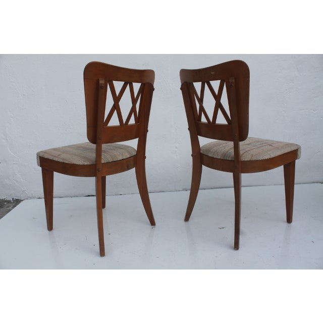 Gray Heywood-Wakefield Dog Bone Chairs - Set of 6 For Sale - Image 8 of 11