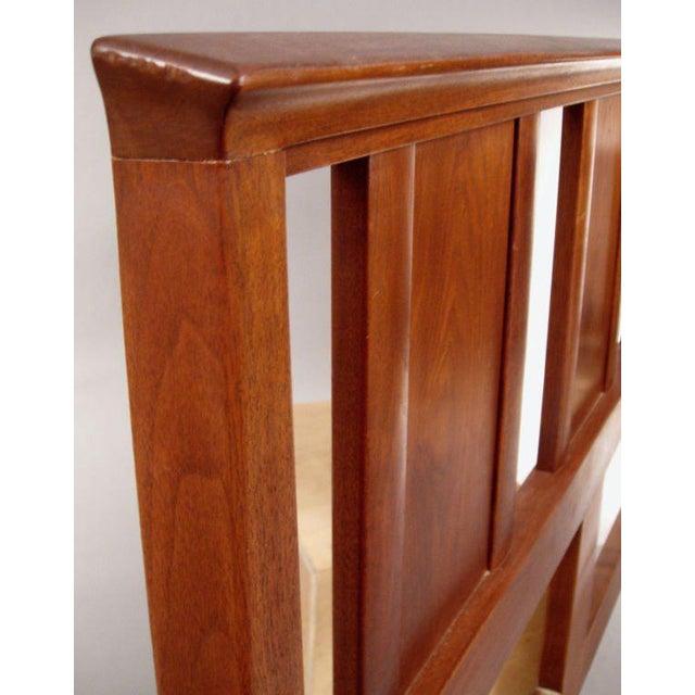 Danish Modern Edward Wormley for Dunbar Walnut Janus Headboard For Sale - Image 3 of 5