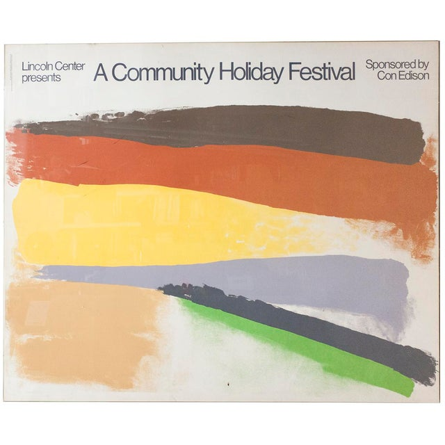 "1973 Friedel Duzbas ""Lincoln Center Presents A Community Holiday Festival"" Serigraph Poster - Image 2 of 2"