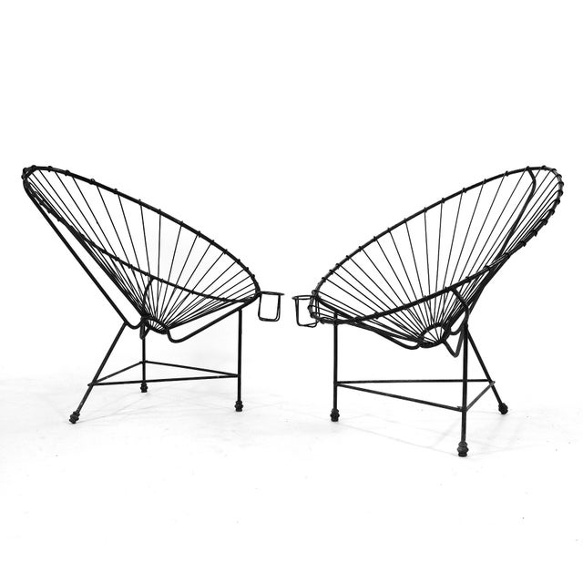 Metal Pair of Acapulco Chairs For Sale - Image 7 of 11