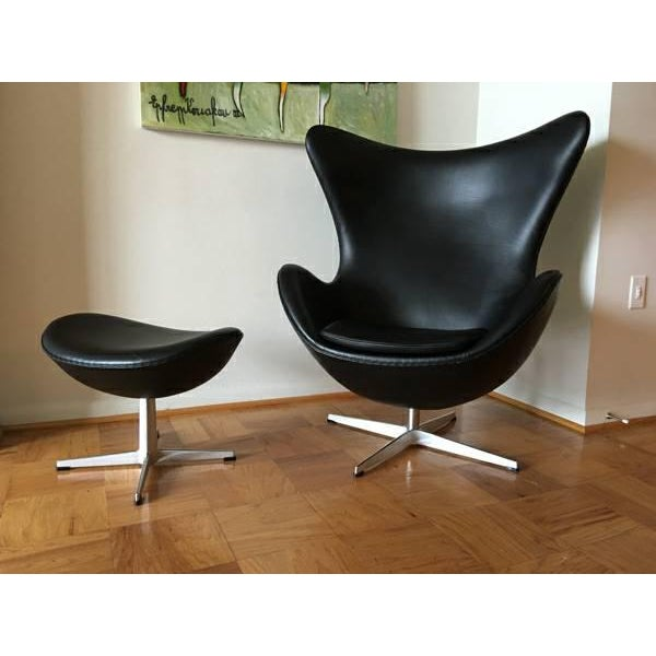 Arne Jacobson for Fritz Hansen Egg Easy Chair & Footstool - Image 7 of 9
