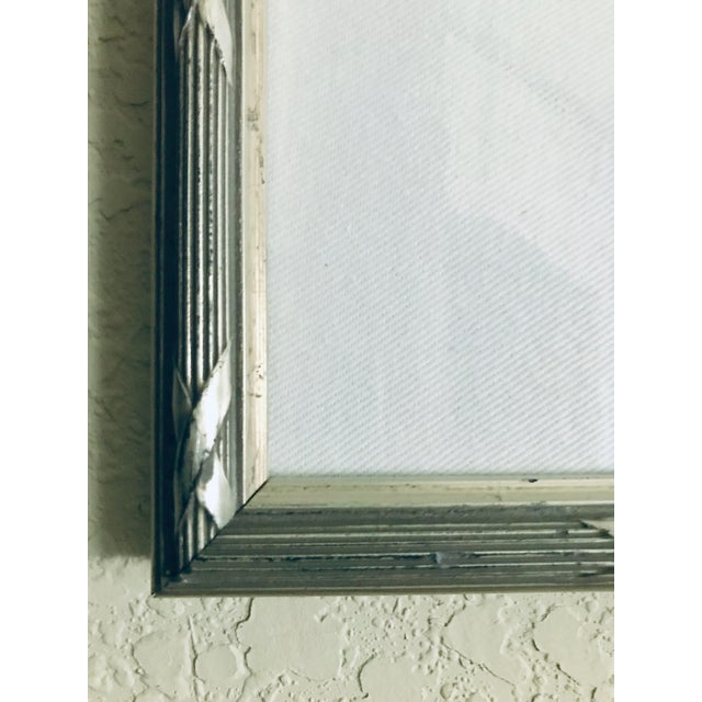 Contemporary Small Matted Painting #1 With Silver Leaf Frame by Allen Kerr For Sale - Image 3 of 4