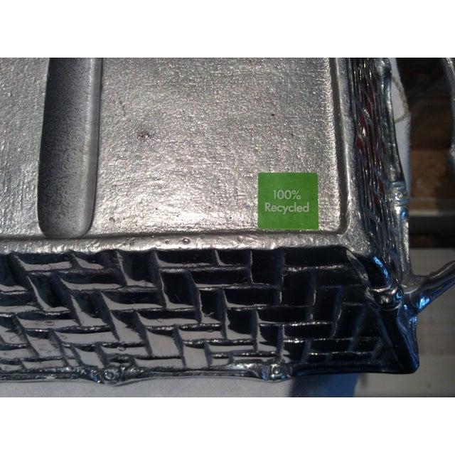 Mariposa Aluminum Bamboo Tri-Section Server - Image 8 of 8