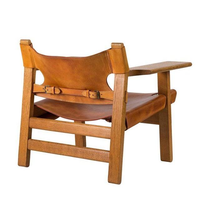 "Animal Skin Børge Mogensen ""Spanish"" Chair For Sale - Image 7 of 10"