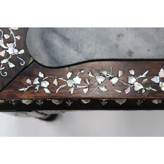 Marble & Mother of Pearl Inlay Table - Image 9 of 10