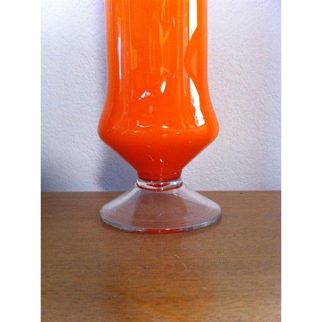 Cased Cylinder Orange Vase - Image 4 of 4