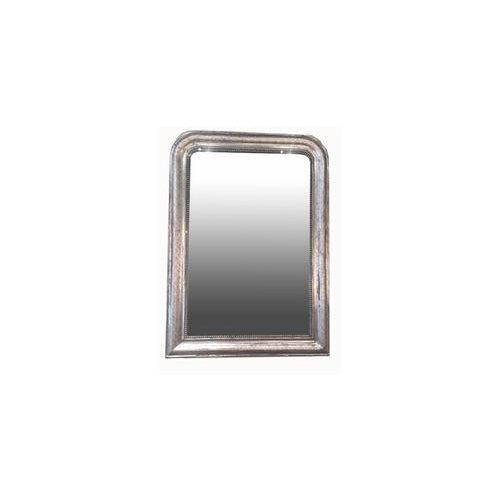 Glass Silver Leaf Louis Philippe Mirror With Decorative Accents For Sale - Image 7 of 7