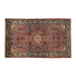 Vintage Persian Bijar Accent Rug -02'06 X 04'02 For Sale