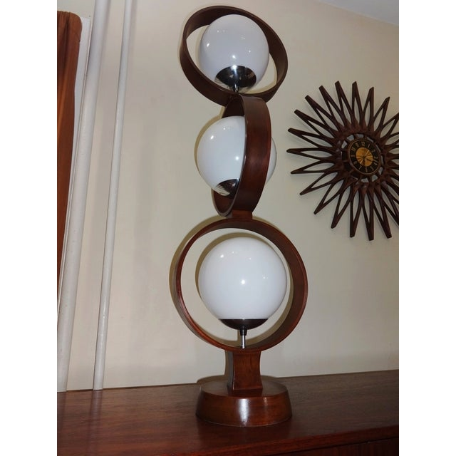 Mid Century Modern Modeline Walnut 3 Tier Lamp - Image 7 of 7