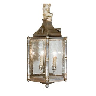 Silvered Faux Bamboo Lantern For Sale