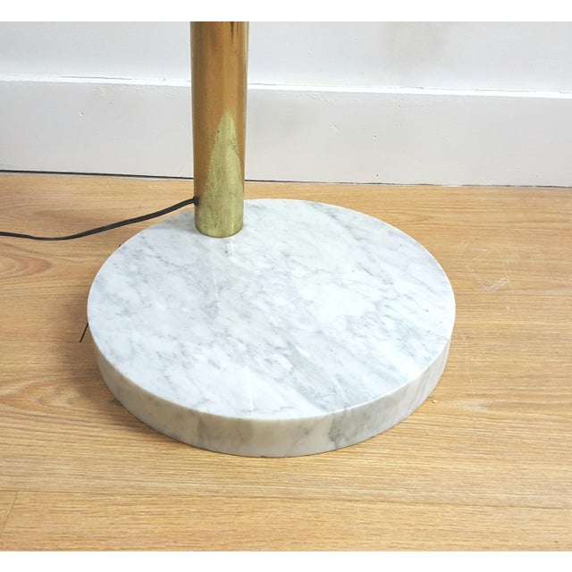 Mid Century Brass Standing 5 Arm Arc Lamp With Marble Base - Image 6 of 7
