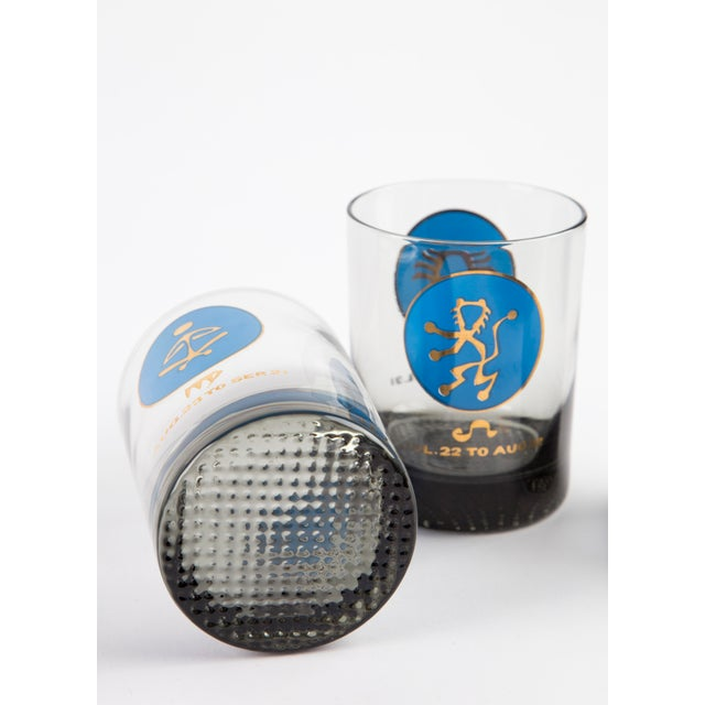 Blue 1960's Zodiac Barware Set For Sale - Image 8 of 10