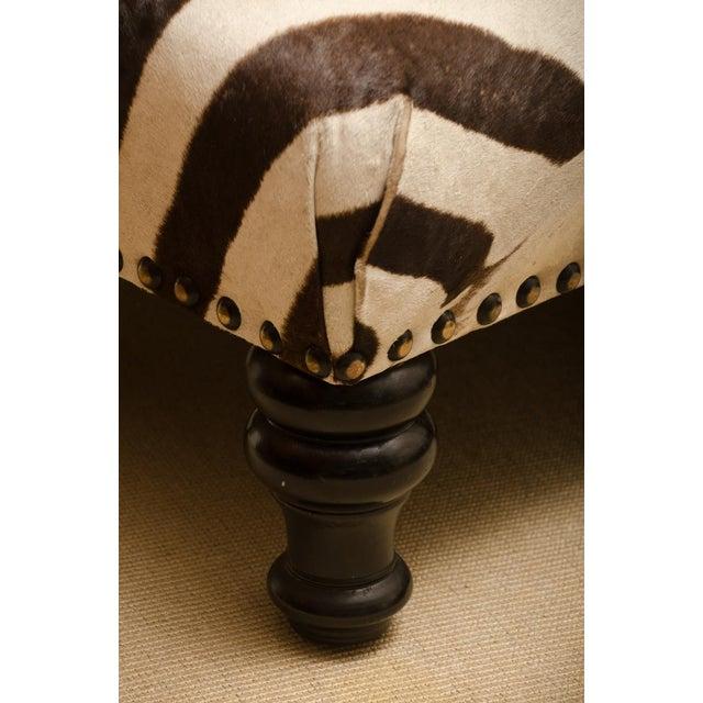 Zebra Skin Ottoman For Sale - Image 4 of 6
