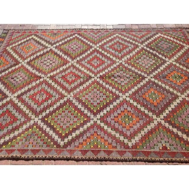 Vintage Turkish Kilim Rug - 6′9″ × 9′11″ - Image 4 of 6