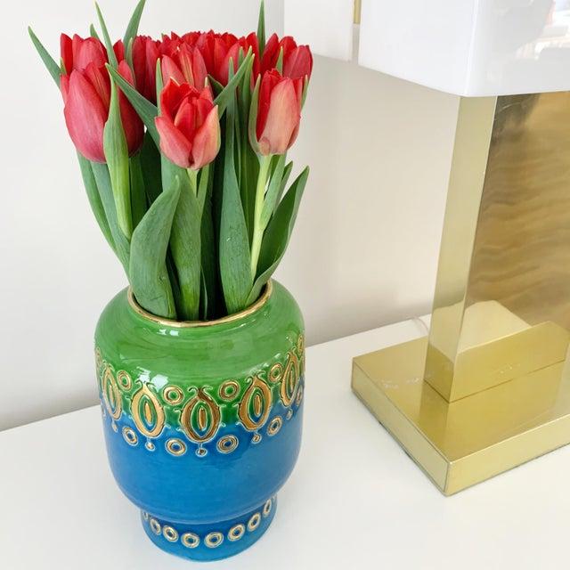 Metal Vintage 1950s Aldo Londi for Bitossi-Rosenthal Vetter Vase For Sale - Image 7 of 8