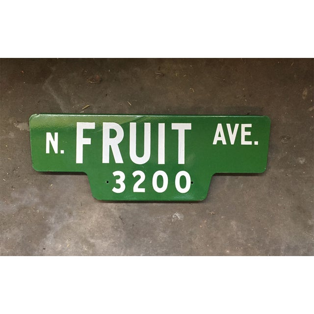 Vintage Street Sign, N Fruit Ave - Image 3 of 3