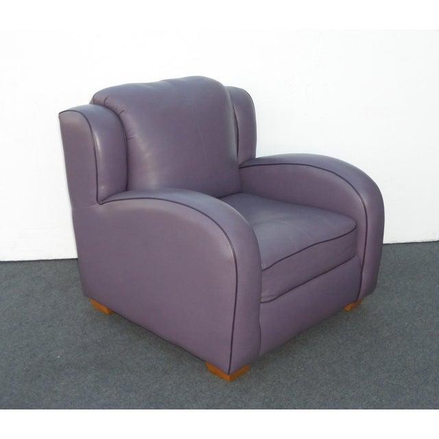 Stupendous Contemporary Lavender Leather Lounge Arm Chair Beatyapartments Chair Design Images Beatyapartmentscom