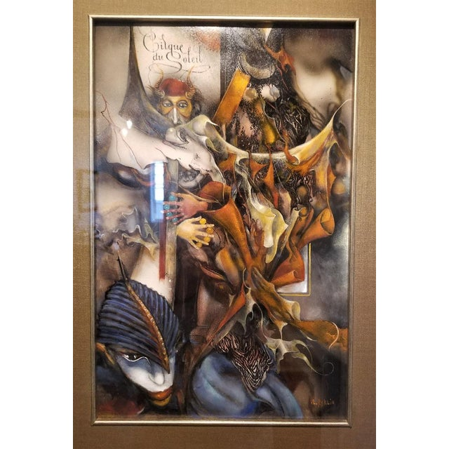 """Late 20th Century Vladimir Ryklin """"Cirque De Soleil 1"""" Oil Painting on Canvas For Sale - Image 5 of 10"""