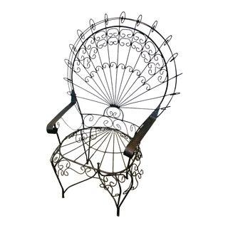 1960's Mid Century Salterini Style Peacock Chair For Sale