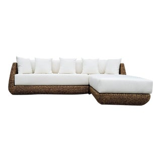 Boho Outdoor Sectional & Lounge Chair - A Pair