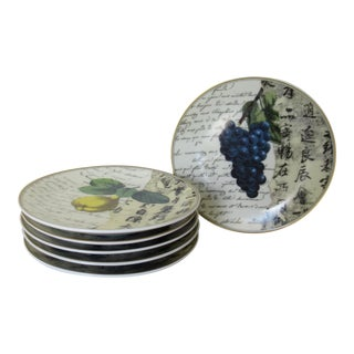 "Bernaradaud Limoges ""Peosie"" Canapé Plates - Set of 6 For Sale"