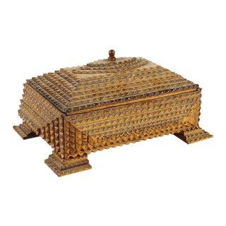 Tramp Art Box For Sale