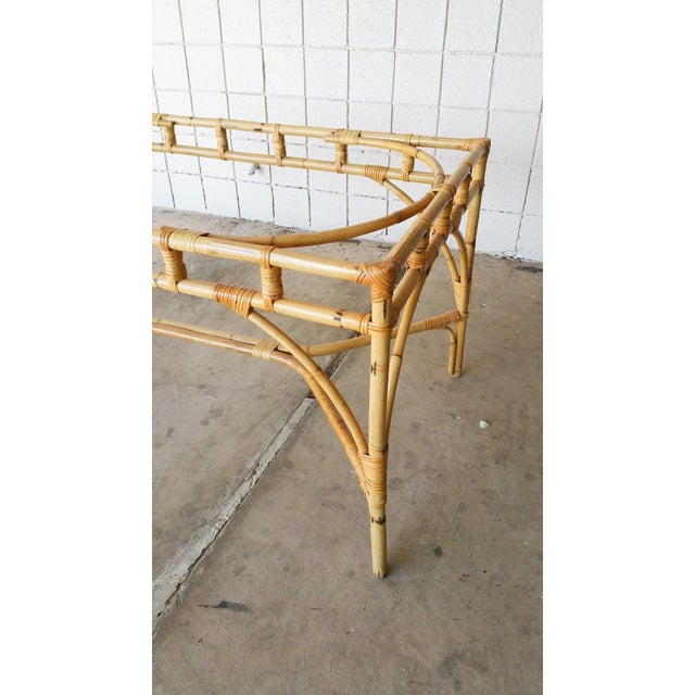 Rattan Chinese Chippendale Dining Table For Sale - Image 5 of 6