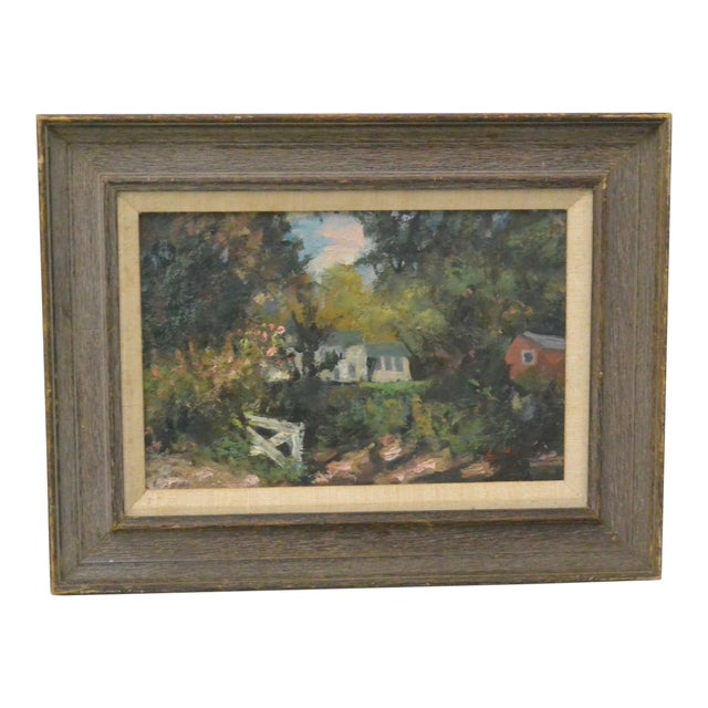 New England Country Home Oil Painting by Bernard Lennon - Image 1 of 5